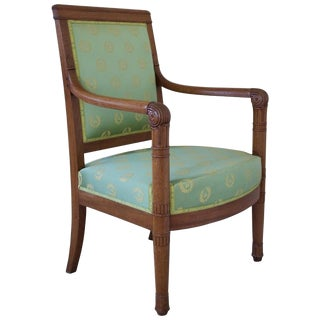 Early 19th Century Antique French Napoleonic Period Armchair For Sale