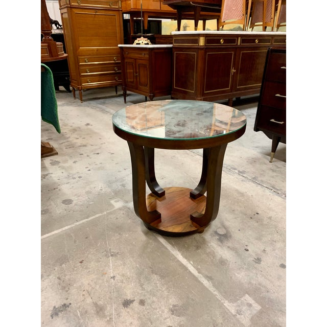 1940s Vintage French Art Deco ''Tulip'' Macassar Coffee Table or Side Table For Sale - Image 13 of 13