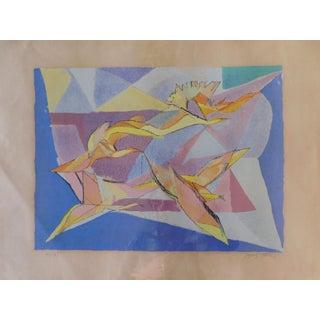 1958 Jaques Villon Birds of Flight Original Print For Sale