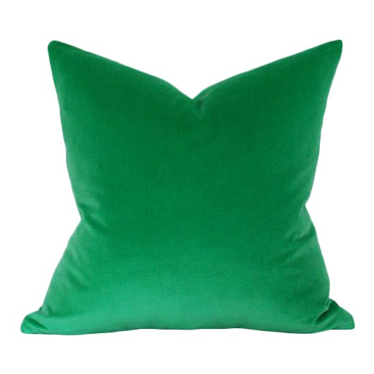 Emerald Green Velvet Pillow Cover - Image 1 of 3