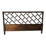 Image of Hollywood Regency Style Faux-Bamboo King Size Headboard For Sale