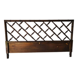 Hollywood Regency Style Faux-Bamboo King Size Headboard For Sale