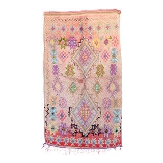 """BOUJAD Vintage Moroccan Rug, 3'10"""" x 6'6"""" feet"""