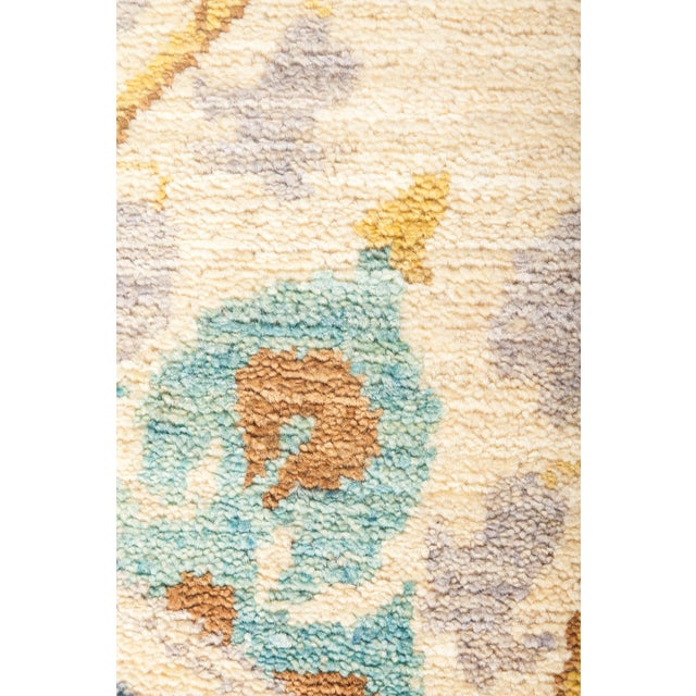 "Suzani Hand Knotted Area Rug - 6' 2"" X 8' 8"" - Image 3 of 4"