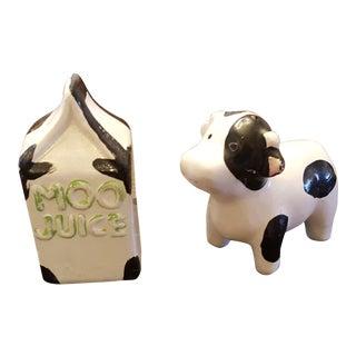 Moo Juice Salt & Pepper Shakers - A Pair
