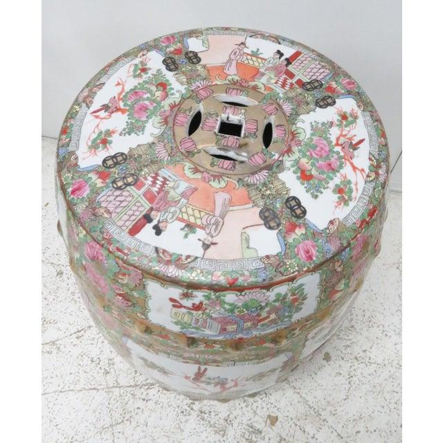 Rose Medallion Garden Stool For Sale - Image 4 of 6