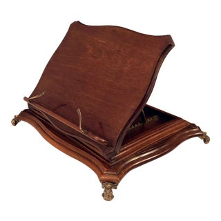 English Music Stand of Mahogany and Brass For Sale