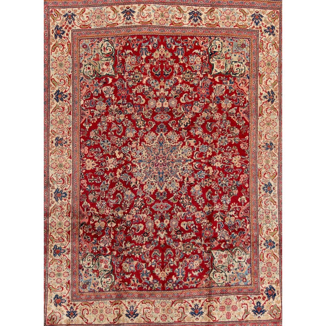 """Antique Mahal Rug, 9'5"""" X 12'8"""" For Sale"""