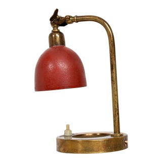 Mid Century Modern Italian Table Lamp - Wall Sconce With Ashtray For Sale