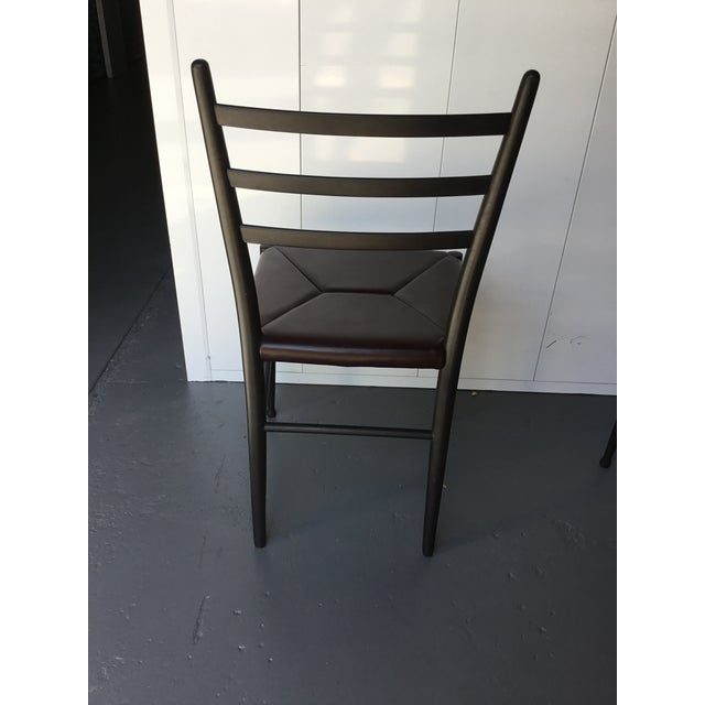 Mid-Century Italian Dining Side Chairs - Set of 4 For Sale In New York - Image 6 of 11