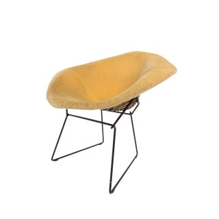 Mid-Century Harry Bertoia for Knoll Yellow Diamond Lounge Chair For Sale