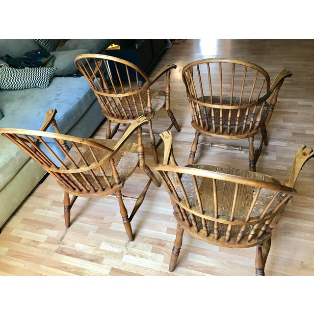 1920 Barnard & Simonds Rochester NY Windsor Chairs - Set of 4 For Sale - Image 9 of 11