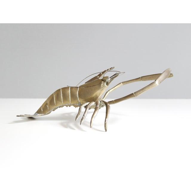 Vintage Mid Century Brass Shrimp Figurine - Image 3 of 5