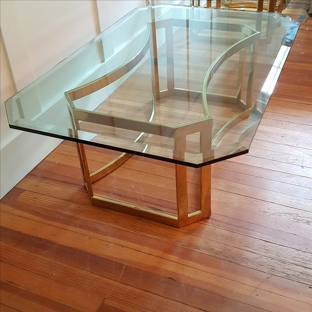 Milo Baughman Style Coffee Table - Image 3 of 5
