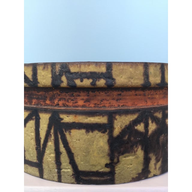 1950s Marcel Fantoni Ceramic Fruit Bowl For Sale - Image 5 of 6