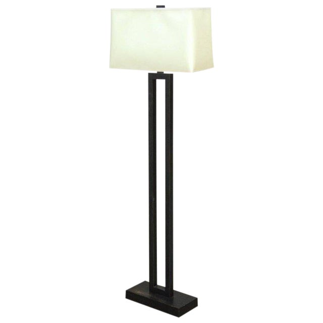 Modern Bronze Doughnut Floor Lamp by Robert Abbey - Image 1 of 9
