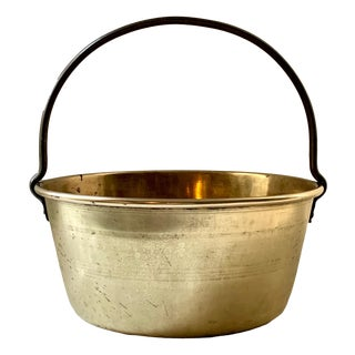 Antique Brass Jelly Kettle For Sale
