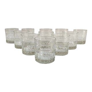 Vintage French St Louis Crystal Tumblers - Set of 11 For Sale