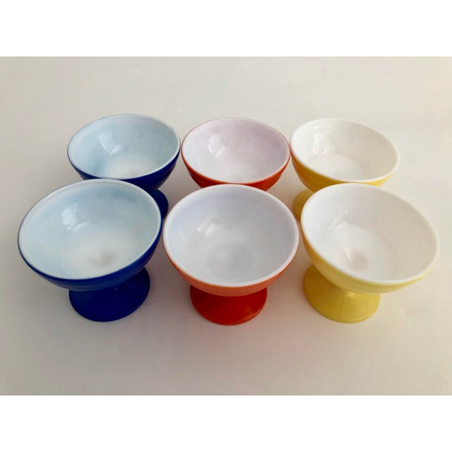 1970s Mid-Century Modern Glass Parfait Dishes - Set of 6 For Sale - Image 4 of 5