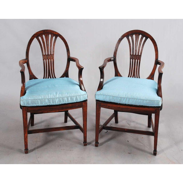 19th Century Rosewood Armchairs - a Pair For Sale - Image 9 of 9