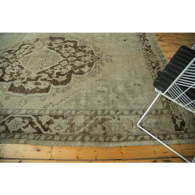 "Vintage Distressed Oushak Carpet - 6'10"" x 10'2"" For Sale - Image 5 of 10"