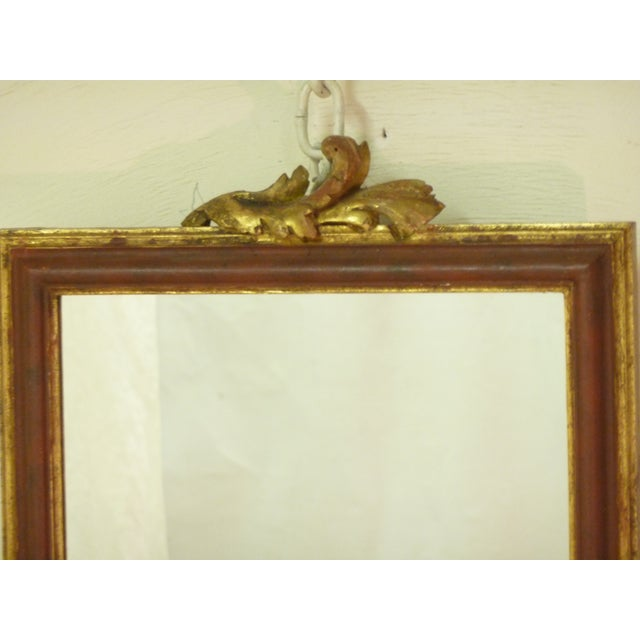 Small Mirror With Leaf Carving - Image 3 of 4
