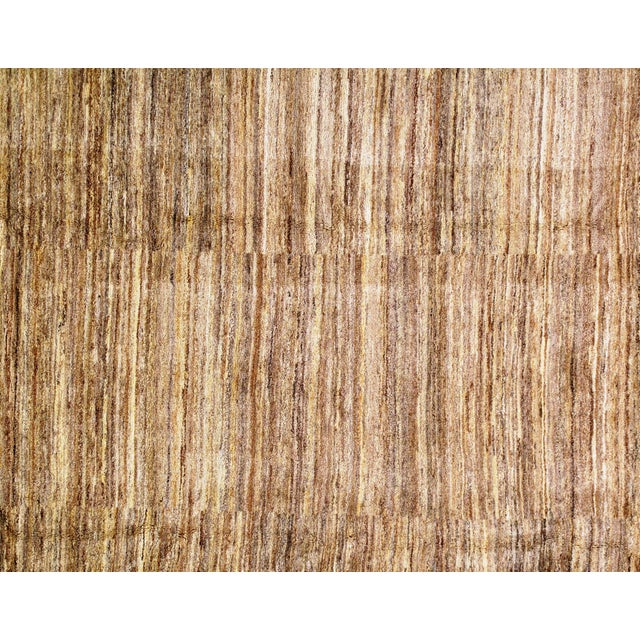 """Traditional Pasargad NY Genuine Persian Gabbeh Rug - 8′4″ × 10′11"""" For Sale - Image 4 of 5"""