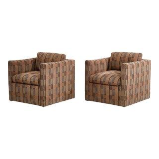 Manhattan Lounge Chairs Bauhaus Fabric, 1980 For Sale
