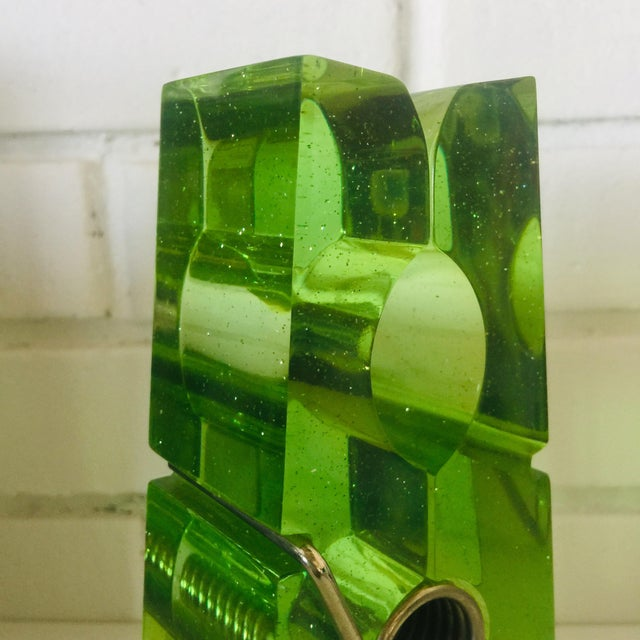 Metal Lime Green Giant Lucite Clothespin For Sale - Image 7 of 12
