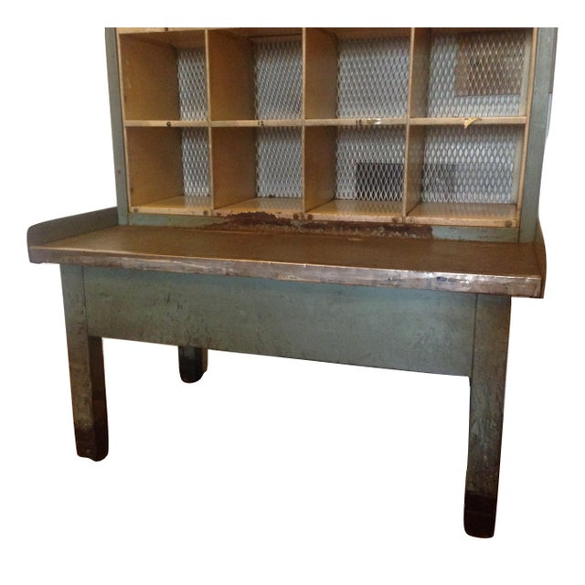 Industrial Vintage Industrial Post Office Sorting Cubby For Sale - Image 3 of 6