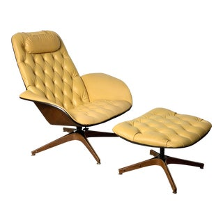 1960s Vintage George Mulhauser Mr Lounge Chair & Ottoman For Sale