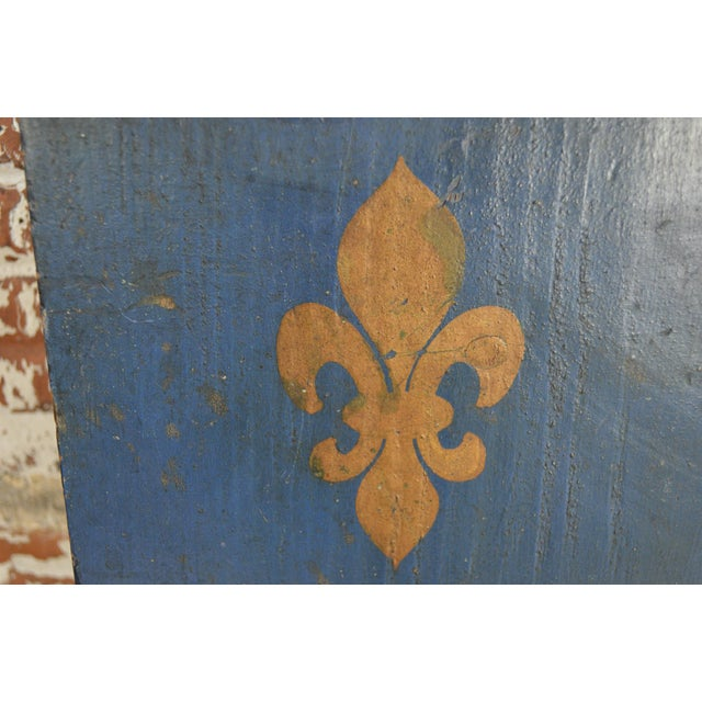 Paint Vintage French Painted Family Shield For Sale - Image 7 of 13