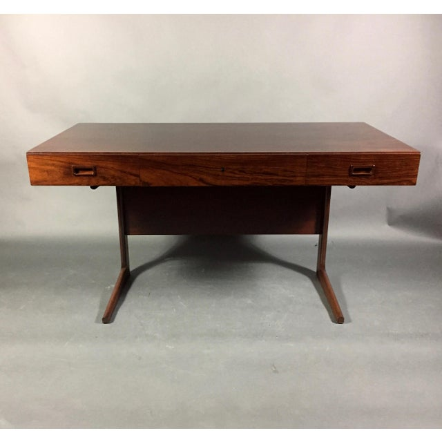 """1970 """"Cassette"""" Desk in Rosewood, Style of Georg Petersens For Sale - Image 10 of 12"""