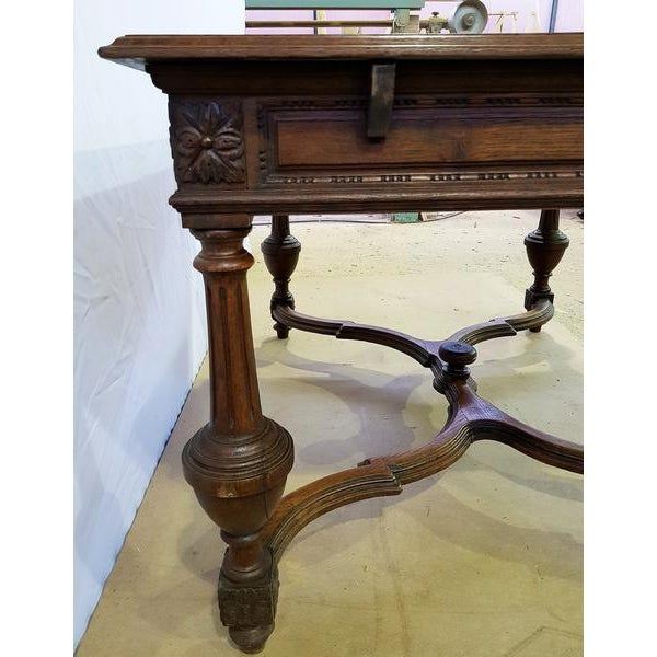 Rectangular Carved Antique French Jacobean Style Oak Dining Table For Sale In New York - Image 6 of 12