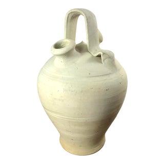 Vintage Rustic Ceramic Spanish Botijo Vessel For Sale