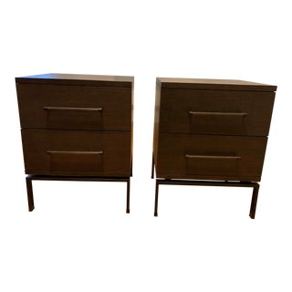 West Elm Nash 2 Drawer Nightstands - A Pair For Sale