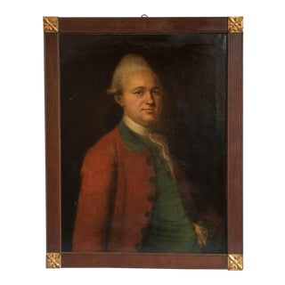 19th Century Antique Oil on Canvas Portrait of a Nobleman Painting For Sale