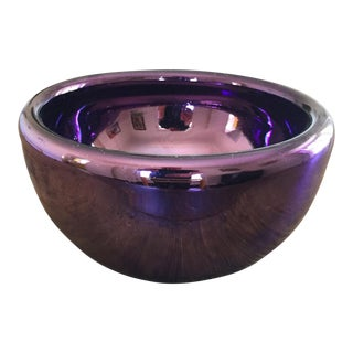 1970s Vintage Mexican Mirrored Blown Glass Bowl For Sale
