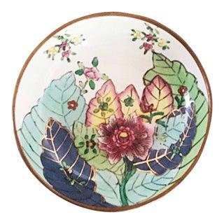 Tobacco Leaf Brass Bottom Bowl For Sale