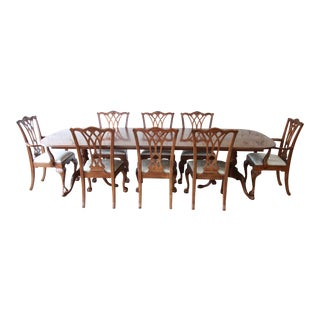 Drexel Heritage Flame Mahogany Formal Extension Dining Set
