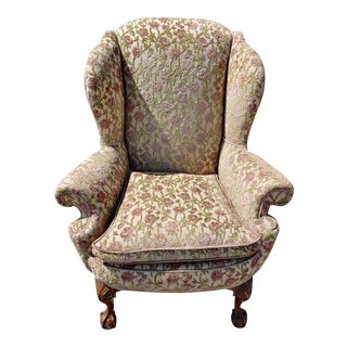 18th Century Antique Wingback Chair For Sale