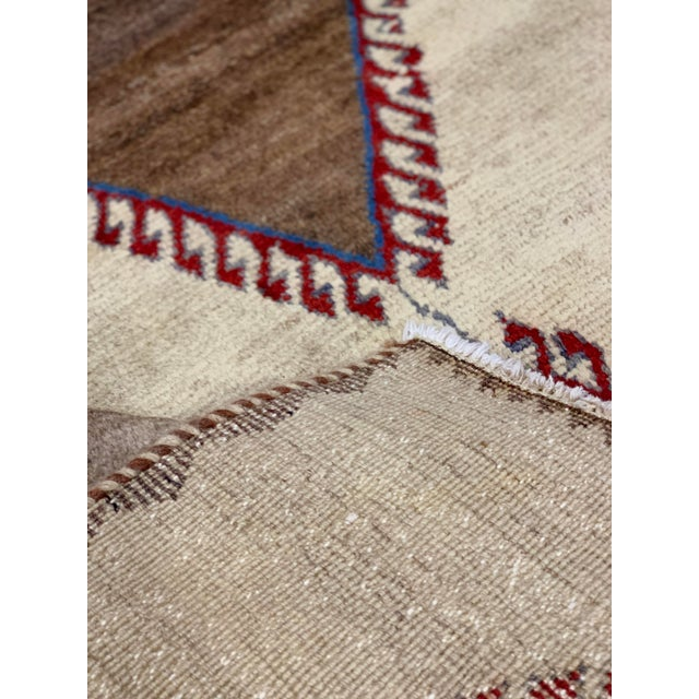 1960s 1960s Vintage Persian Gabbeh Rug - 4′2″ × 6′4″ For Sale - Image 5 of 13