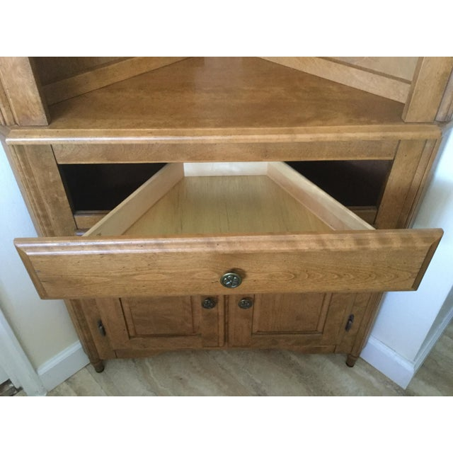 Corner Hutch/Buffet/China Cabinet - Handcrafted, Solid Birch - Image 6 of 10