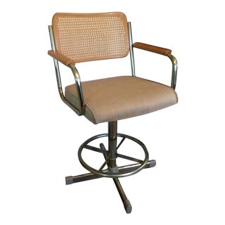 Mid-Century Samsonite Cane Back Bar Stool