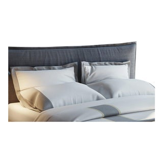 Monte Carlo Banded Pillowcases Standard - Graphite For Sale