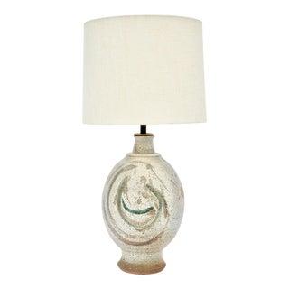 California Stoneware Table Lamp For Sale