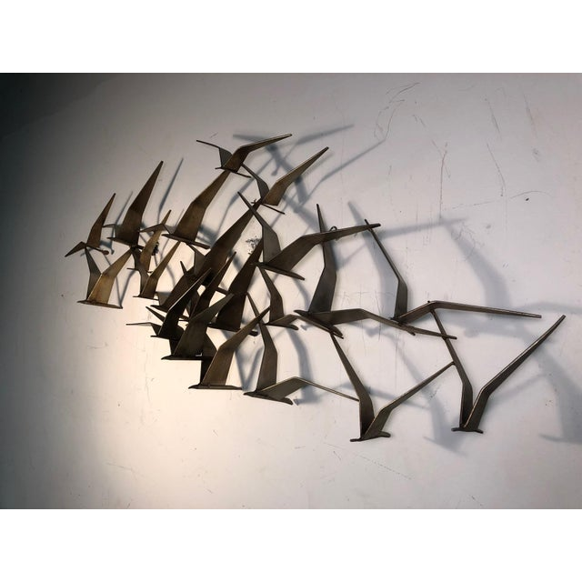 1970s Monumental Curtis Jere Flying Birds Wall Sculpture For Sale - Image 5 of 7