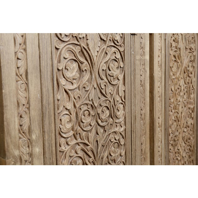 Antique Carved Anglo-Indian Doors - Pair - Image 2 of 6
