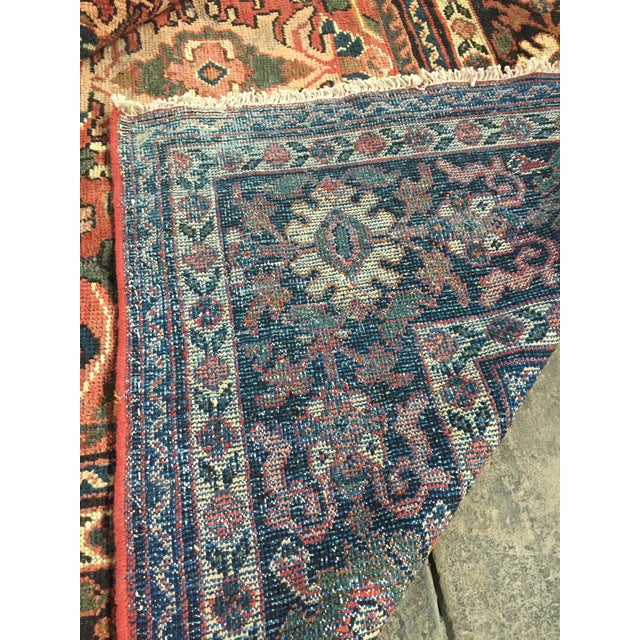 1930s Vintage Distressed Persian Meshkabad Rug - 10′4″ × 13′6″ For Sale - Image 11 of 13