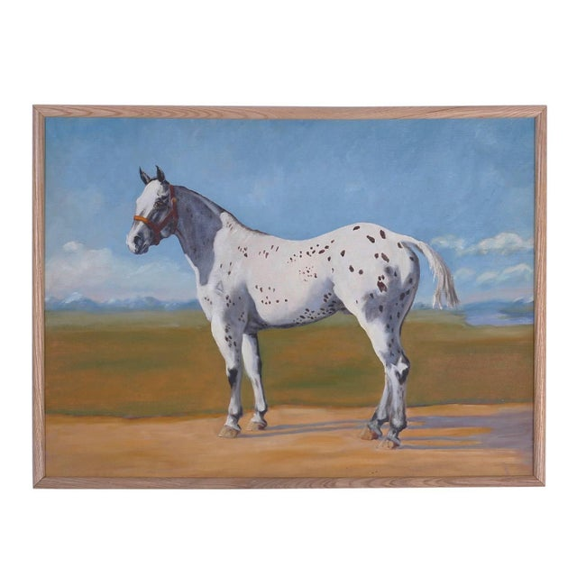 Oil Painting of a Horse on Board For Sale In West Palm - Image 6 of 6